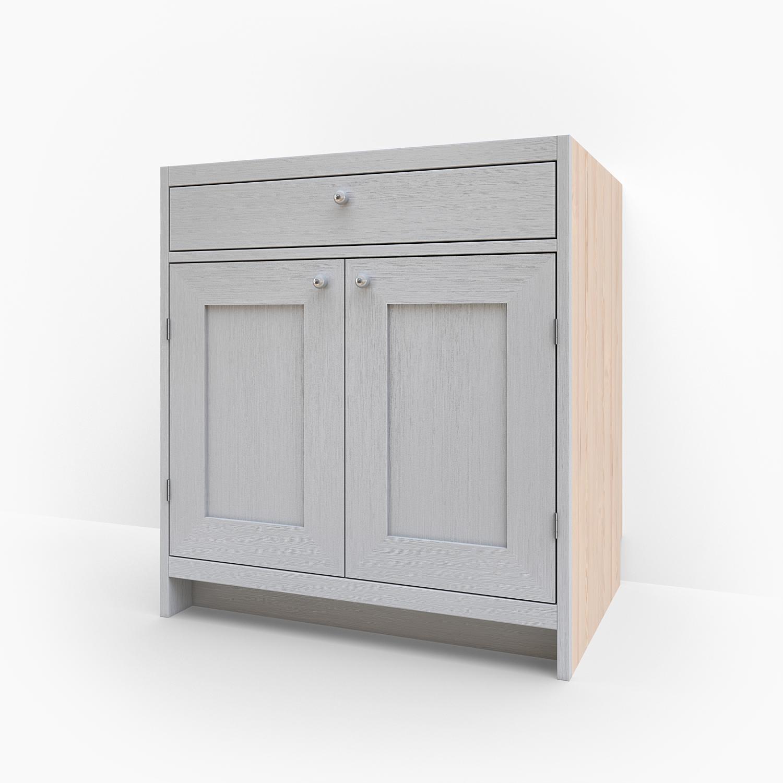 Bänkskåp med dubbel lucka & låda