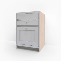 Vaskskåp för diskho med två lådor
