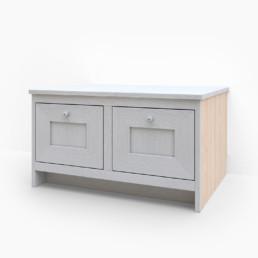 Sittbänk med två lådor