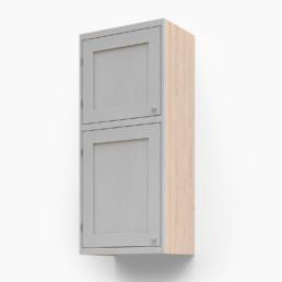 Högt väggskåp med två luckor
