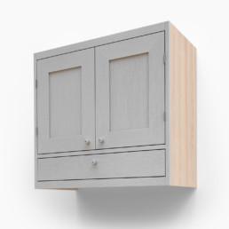 Väggskåp med dubbel lucka och en låda